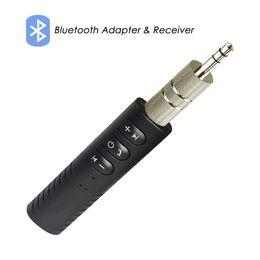 Universal 3.5mm jack Bluetooth Car Kit Mains Libres Musique Audio Récepteur Adaptateur Auto AUX Kit pour Haut-Parleur Casque Stéréo de Voiture