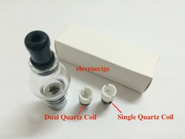 Globe Glasses Canada - Newest Wax Coils Glass Globe Atomizer Dry Herb Vaporizer Replacement Wax Vapor Tank with Quartz Coil Head for EGO T Evod Battery