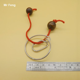 China Chinese Traditional Intellectual Knot Buckle Snail Puzzle Untie Ring Brain Tester suppliers