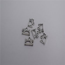 charms loops Australia - new Materials: zinc metal alloy Size(Approx):20*12mm,loop:2mm 8pcs Antique silver plated sewing machine charm pendant T0026