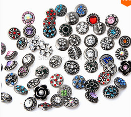 $enCountryForm.capitalKeyWord NZ - top dsign small button giner Mixed 12mm New Mini Snap Buttons Rhinestone Colorful Pattern DIY snap button charm mix styles colors button