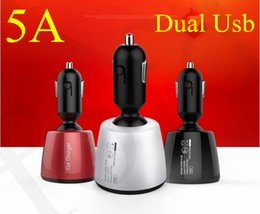 $enCountryForm.capitalKeyWord Australia - 5A Car Charger 360 Degree 12-24V Dual Usb 4 in 1 Voltage Temperature Current Meter Tester Adapter Digital Display Fast charger 10pcs