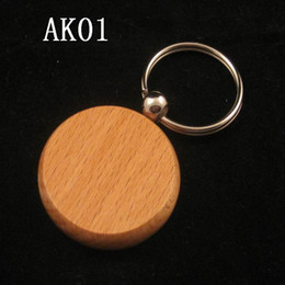 "Carved Wood Ring Canada - Hot sale Round Shaped Dia 1.5"" Blank Wooden Key Chains Promotion Carving Key rings can be carving you LOGO"