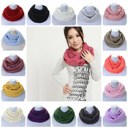 Knitted necK warmers for women online shopping - Corn Grain Design Scarves Universal Keep Warm Wool Knitted Neckerchief Portable Winter Neck Warp For Men And Women bd B