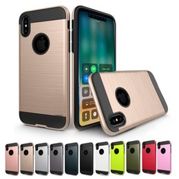 Gold protector online shopping - For iPhone XS MAX XR Samsung S10E A6 Phone Case Rugged Armor Protector Cover Case For Samsung S9 S8 Plus Back Cover Shell with OPP Bag