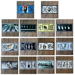 room number plate 2019 - Che Guevara Che 726 Car Number Plates Retro Metal poster Tin Sign tps Home Pub Bar Decor 6 cheap room number plate