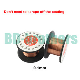 Chinese  Wholesale 0.1mm Copper Soldering Solder PPA Enamelled Reel Wire Line Roll Fly line Jump Wire 5000pcs lot manufacturers