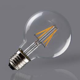 E27 tungstEn lamp online shopping - Ceramics subtrate G95 Tungsten LED Lamp Filament Light Bulb Edison Style E27 v V Degree Glass for Home Lighting Edison bulb