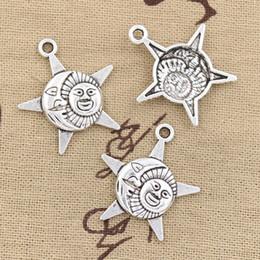 $enCountryForm.capitalKeyWord Canada - 100pcs Charms sun moon star 27*23mm Antique,Zinc alloy pendant fit,Vintage Tibetan Silver,DIY for bracelet necklace