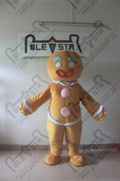 Christmas Cartoon Movies Free Canada - gingerbread mascot costume hot sale Christmas game bread costumes cartoon breadman costumes hot sale festival costumes