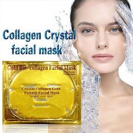 lift facial mask NZ - Deep Moisturizing anti-aging skin whitening lifting gold bio-collagen facial mask crystal collagen Gold Powder Facial Mask Free Shipping