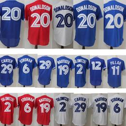 deb42e644 men jersey 20 Josh Donaldson 2Troy Tulowitzki 19 Jose Bautista 29 Joe  Carter 11 Kevin Pillar jerseys wholesale 100% Stitched ...