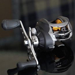 Fake Bait Canada - Free Shipping 9+1 BB 6.3:1 Right & left Hand Baitcasting Fishing Reel Bait Casting Baitcast Reels Blue With Centrifugal Brake System