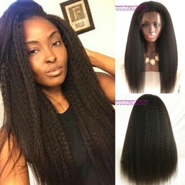 $enCountryForm.capitalKeyWord Canada - Kinky straight 300 Full density brazilian glueless lace front wig with baby hair brazilian human hair wig bleached kont