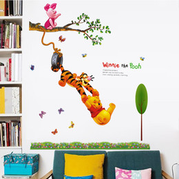 New Cute Winnie The Pooh Wall Stickers For Children PVC Animals Movie Wall  Mural Decals For Kids Room And Nursery Decoration Part 50