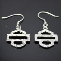 Stainless Steel Motors Canada - 3pairs lot biker style hot selling clean crystal earrings 316l stainless steel fashion jewelry motor biker earrings