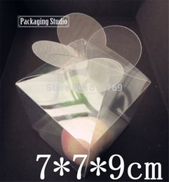 $enCountryForm.capitalKeyWord Canada - 150pcs Leaf Clover PVC Boxes Flower clear Plastic Candy gift candle packaging boxes product display Boxes