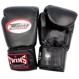 Kids' boxing training gear online shopping - 12Oz Boxing Gloves Pu Leather Muay Thai Guantes De Boxeo Free Fight Mma Sandbag Training Glove For Men Women Kids Color