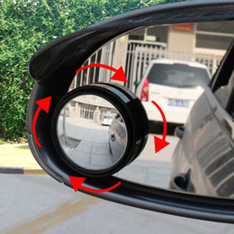 vehicle blind spot mirrors 2019 - Wholesale-New Driver 2 Side Wide Angle Round Convex Car Automobile Vehicle Mirror Blind Spots area Rear View for parking