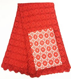 $enCountryForm.capitalKeyWord Canada - Pure color african cord lace fabric good quality embroidered guipure lace fabric for lady dress 5 yards pcs