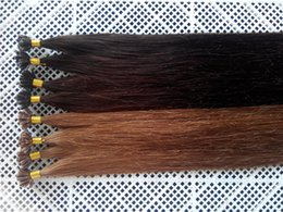 keratin bonded indian hair extensions Canada - DHL Free 100g 18inch - 24inch 1g #2 and #8 Keratin Prebonded Nail U tip Hair Extensions Silk Straight INDIAN Remy Pre bonded Hair