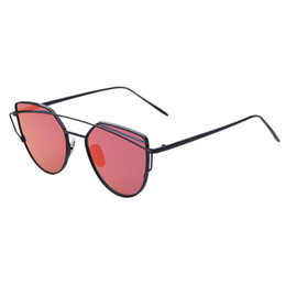 flat mirrors UK - 2016 Europe and the United States butterfly girl fashion personality sunglasses Reflective flat mirror Color film sunglasses 9013