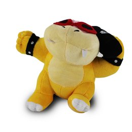 """Super Soft Stuffed Animals Canada - NEW Super Mario Browser Bros Roy Koopa With Bomb Stuffed Animals Plush Toy With Tag Soft Dolls For Children 8""""20cm"""