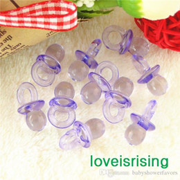 Free Shipping 100pcs Pack 22mm*11mm Clear Lavender Mini Acrylic Baby  Pacifier Baby Shower Favors~Cute Charms ~Party Decorations