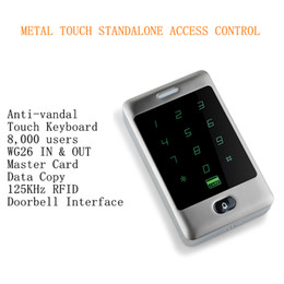 $enCountryForm.capitalKeyWord Canada - 2016 New Arrival 125Khz 8,000 RFID & PIN Users Metal Anti-vandal Touch Standalone Access Controller Standalone