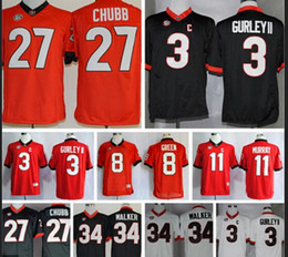 Factory Outlet- Georgia Bulldogs Todd Gurley 27 Nick Chubb Jersey 8e7f4c992