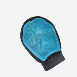 pet grooming glove UK - Pet Dog Cat Brush Glove Mitt Glove Gentle Pet Grooming Massage Bathing Brush Comb For Long and Short Hair Pet Supply