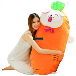 vegetable toy baby UK - Dorimytrader pop large soft carrot plush cartoon pillow stuffed anime vegetables carrots toy cushion baby Christmas gift 150cm DY61849