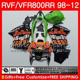 honda vfr interceptor fairings NZ - VFR800 For HONDA Interceptor VFR800RR 98 99 00 01 02 03 04 12 Repsol green 90NO51 VFR 800 RR 1998 1999 2000 2001 2002 2003 2004 2012 Fairing