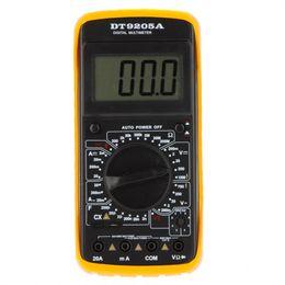 Wholesale-DT9205A Compteur AMP Testeur de poche MEGOHMMEter Multimètre numérique DMM W / CAPACITANCE HFE Test MultiMetro Ammètre MultiMeter en Solde