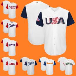 $enCountryForm.capitalKeyWord Canada - 2017 WBC Jersey America USA Canada Puerto Rico Cuba Dominicana Ltalia Mexico Venesuela Size 40-56 Custom World Baseball Classic jersey