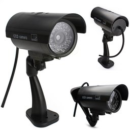 Chinese  Drop shipping Wonderful Outdoor Indoor Fake Surveillance Security Dummy Camera Night CAM LED Light EA10516 manufacturers