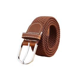 Chinese  FG1509 Fashion Unisex Elastic Belts 2015 New Waistband Woven Canvas Belt Men Women Wild Casual Belt Buckle CinturonesHombre Strap T173 manufacturers