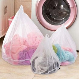 Discount home care products - Drawstring Cloths Products Laundry Bags Baskets Mesh Bag Household Cleaning Tools Accessories Laundry Wash Care Protecti