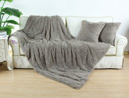 Superb Wholesale Faux Fur Super Soft Blanket 150 X 200cm Combine Cushion Cover  45cm X 45cm Throw Warm Ultra Fluffy Plush For Bed Sofa Fur Sofa Covers  Promotion