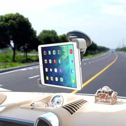 Tab Car Mount Holder Canada - 2016 New Car Windshield Dashboard Mount Holder For iPad 3 4 Air Samsung Galaxy Tab 2 3 4 Tablet PC GPS 7 to 10 inch 360 Rotating