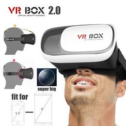 """venda por atacado Livre DHL Cabeça de Montagem De Plástico VR BOX Versão 2.0 VR Realidade Virtual Óculos Google Papelão 3d Jogo Filme para 3.5 """"-6.0"""" Telefone Inteligente"""