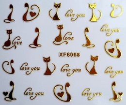 $enCountryForm.capitalKeyWord Canada - Can Mix Style Gold Zipper 3d Designs Nail Art Stickers Decals Crown Bowknot Love Beard Cat Manicure Decor Tools DIY Nail Art Tips