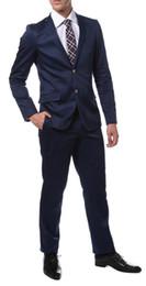 Mens wedding suits white blue online shopping - Mens Super Slim Fit Groom Blue Tuxedos New Groomsmen Mens Wedding Prom Suits Custom Made Jacket Pants Tie Vest Custom Made