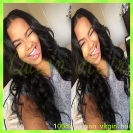 ombre full lace wigs Australia - 6A Brazilian Full Lace Wigs Body Wave Lace Front Wig Glueless Human Hair Full Lace Wig No Tangling No Shedding
