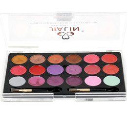 Chinese  Professional Lip Stick 18 colors Palette Lip Gloss Makeup Lipstick 3 pcs packet 95 g 15915-A02# manufacturers