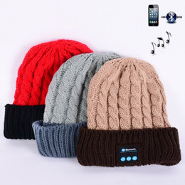NEW Soft Warm Beanies Bluetooth Music Hat Cap with Stereo Headphone Headset  Speaker Wireless Mic Hands-free for Men Women Gift Wholesale b5d508def06c