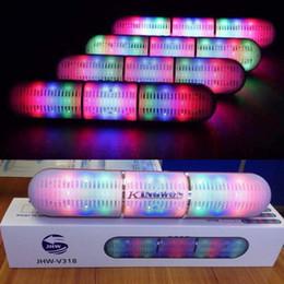 $enCountryForm.capitalKeyWord Canada - New fashion Pulse LED Flash Lighting Portable Bluetooth Speaker Bulit-in Mic Handsfree speakers Support FM USB TF Card JHW-V318