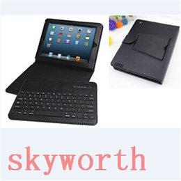Bluetooth Keyboard Mini Ipad Accessories NZ - Detachable Wireless Bluetooth Keyboard Leather Case Stand for iPad Air 2 mini 4 iPad 2 3 4 5 6 Pro 12.9