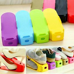 Heat Shoes NZ - Plastic Adjustable Shoe Organizer Colorful Anti Wear Storage Hangers Heat Resistant Shoes Rack Universal