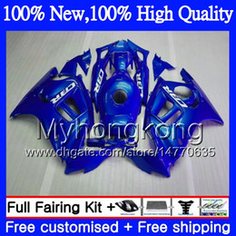 Pink honda motorcycles online shopping - Bodys Motorcycle For HONDA CBR600 F3 CBR600RR F3 CBR600FS Gloss blue MY8 CBR F3 FS CBR600F3 CBR F3 Hot Fairing kit